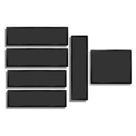 DEMCiflex Dust Filter Kit for CaseLabs Magnum TH10 (6 Filters), Black Frame / Black Mesh