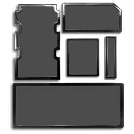 DEMCiflex Dust Filter Kit for Corsair Obsidian 750D (5 Filters), Black Frame / Black Mesh