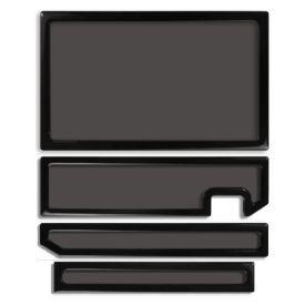DEMCiflex Dust Filter Kit for XBOX One (4 Filters), Black Frame / Black Mesh