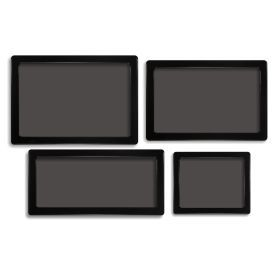 DEMCiflex Dust Filter Kit for Silverstone Sugo SG13B (4 Filters), Black Frame / Black Mesh