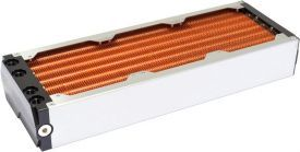 Aquacomputer Airplex Modularity System 360mm, Copper Fins, Two Circuits, Stainless Steel