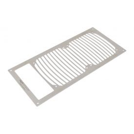 Aquacomputer 120mm Fan Mounting Bracket for Airplex Modularity System 240 with Cut-Out, Brushed Stainless Steel