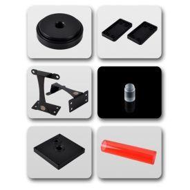 Bitspower Dual / Single D5 Top Upgrade Kit 250, ICE Red Tube / Black POM