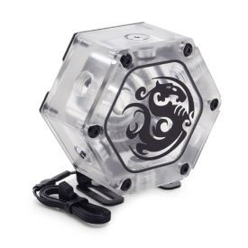 Bitspower Water Tank Hexagon 34 With Digital RGB, Clear