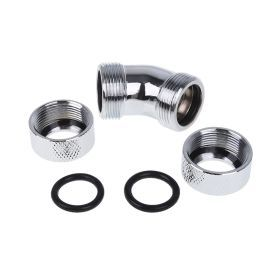 Alphacool Eiszapfen HardTube Compression Fitting, 13mm OD, 45? Angle, Chrome