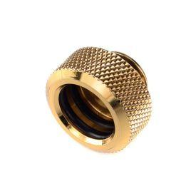 "Bitspower G1/4"" to Multi-Link Fitting for 14mm OD Rigid Tubing, True Brass"