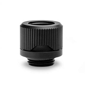 OPEN BOX - EKWB EK-Quantum Torque HDC-12 Compression Fitting for EKWB Rigid Tubing, 12mm OD, Black