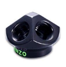 "Enzotech G1/4"" 5-way Block Fitting, Black"