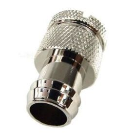 "Enzotech Sealing Plug for 1/2"" ID Tubing, Chrome"