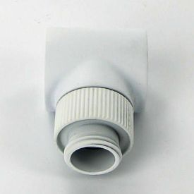 """Monsoon G1/4"""" 90 Degree Rotary Fitting, 5/8"""" OD Matched Body, White"""