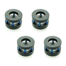 """Monsoon G1/4"""" to 1/2"""" ID, 5/8"""" OD Chain Gun Hardline Compression Fitting, Blue, 4-pack"""