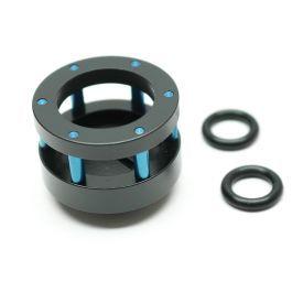 "Monsoon Chain Gun Stop Plug Fitting, 3/4"" OD Size  Matched, Blue"