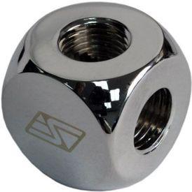 """Swiftech G1/4"""" 4-way Manifold Lok-Seal Fitting, Chrome"""
