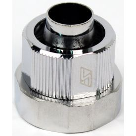 """Swiftech 3/8"""" ID, 5/8"""" OD Compression Fitting End Cap for Quick Disconnect Couplings, Chrome"""