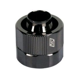 """Swiftech 1/2"""" ID, 3/4"""" OD Compression Fitting End Cap for Quick Disconnect Couplings, Black Chrome"""