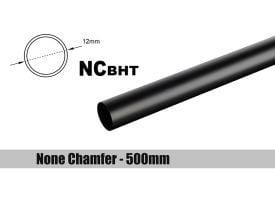 Bitspower None Chamfer Brass Link Tubing, 12mm OD (0.70mm WD), 500mm, Carbon Black