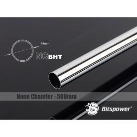 Bitspower None Chamfer Brass Link Tubing, 14mm OD (0.70mm WD), 500mm