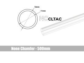 Bitspower None Chamfer Crystal Link Tube, 14mm OD, 500mm, Clear