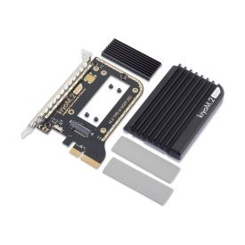 Alphacool Eisblock HDX-5 PCI-e 3.0 x4 RAID Card for M.2 NGFF SSD x2 with Passive Cooling Block