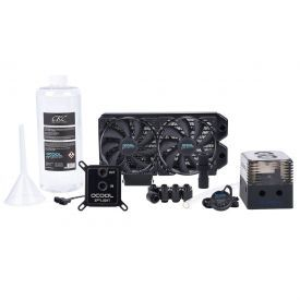 Alphacool Eissturm Gaming PC Water Cooling Kit, 30 2x120mm, Copper