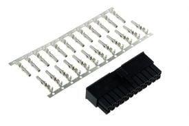 Phobya ATX Power Connector 24 Pin and Terminals, Black
