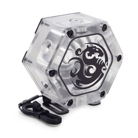 bitspower-water-tank-hexagon-34-with-digital-rgb-clear-0340bp012901on