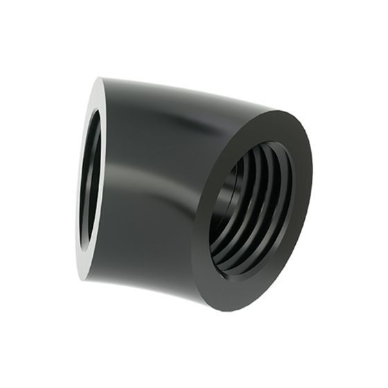 """BarrowCH G1/4"""" Female to Female 45 Degree Angle Adapter Fitting"""