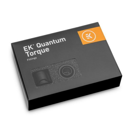 """EKWB EK-Quantum Torque STC-10/16 Compression Fitting for Soft Tubing, 10/16mm (3/8"""" ID, 5/8"""" OD), 6-pack"""