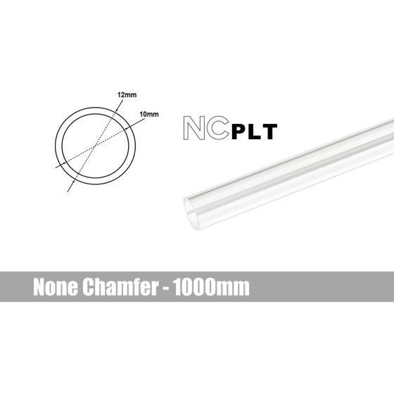 Bitspower None Chamfer PETG Link Tube, 12mm OD, 1000mm