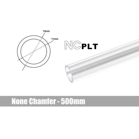 Bitspower None Chamfer PETG Link Tube, 14mm OD, 500mm