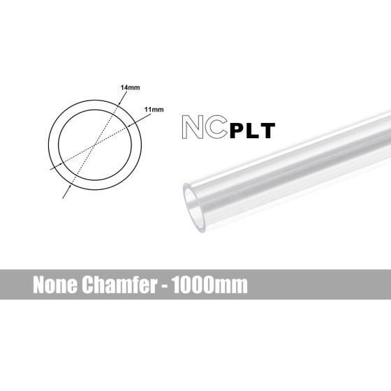 Bitspower None Chamfer PETG Link Tube, 14mm OD, 1000mm