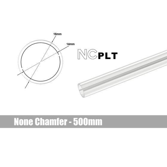 Bitspower None Chamfer PETG Link Tube, 16mm OD, 500mm