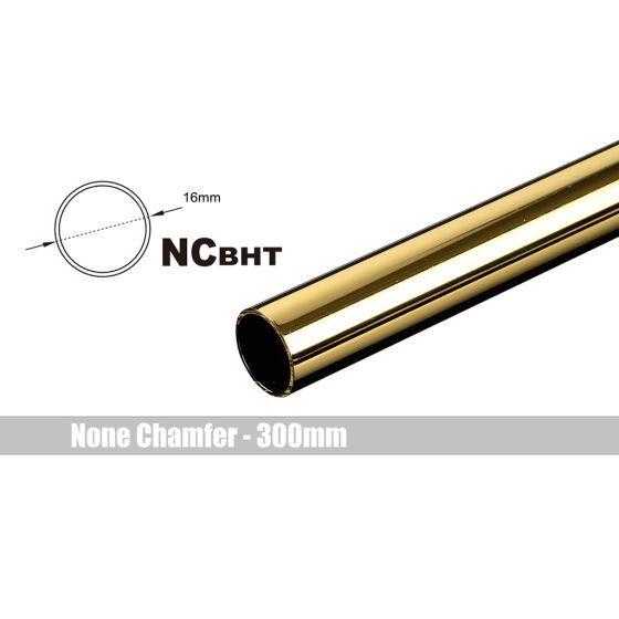 Bitspower None Chamfer Brass Link Tubing, 16mm OD (0.70mm WD), 300mm