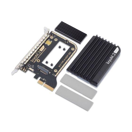 aquacomputer-kryom2-evo-pcie-30-x4-adapter-for-m2-ngff-pcie-ssd-m-key-with-passive-heatsink-0385ar010401on