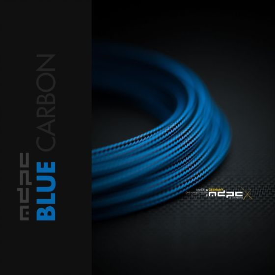 mdpc-x-classic-small-cable-sleeving-blue-carbon-1-foot-0440mp010809on