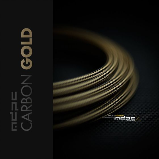 mdpc-x-classic-small-cable-sleeving-carbon-gold-1-foot-0440mp010813on