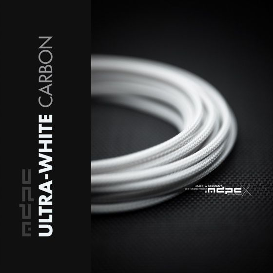 mdpc-x-classic-small-cable-sleeving-ultra-white-carbon-1-foot-0440mp0108a5on