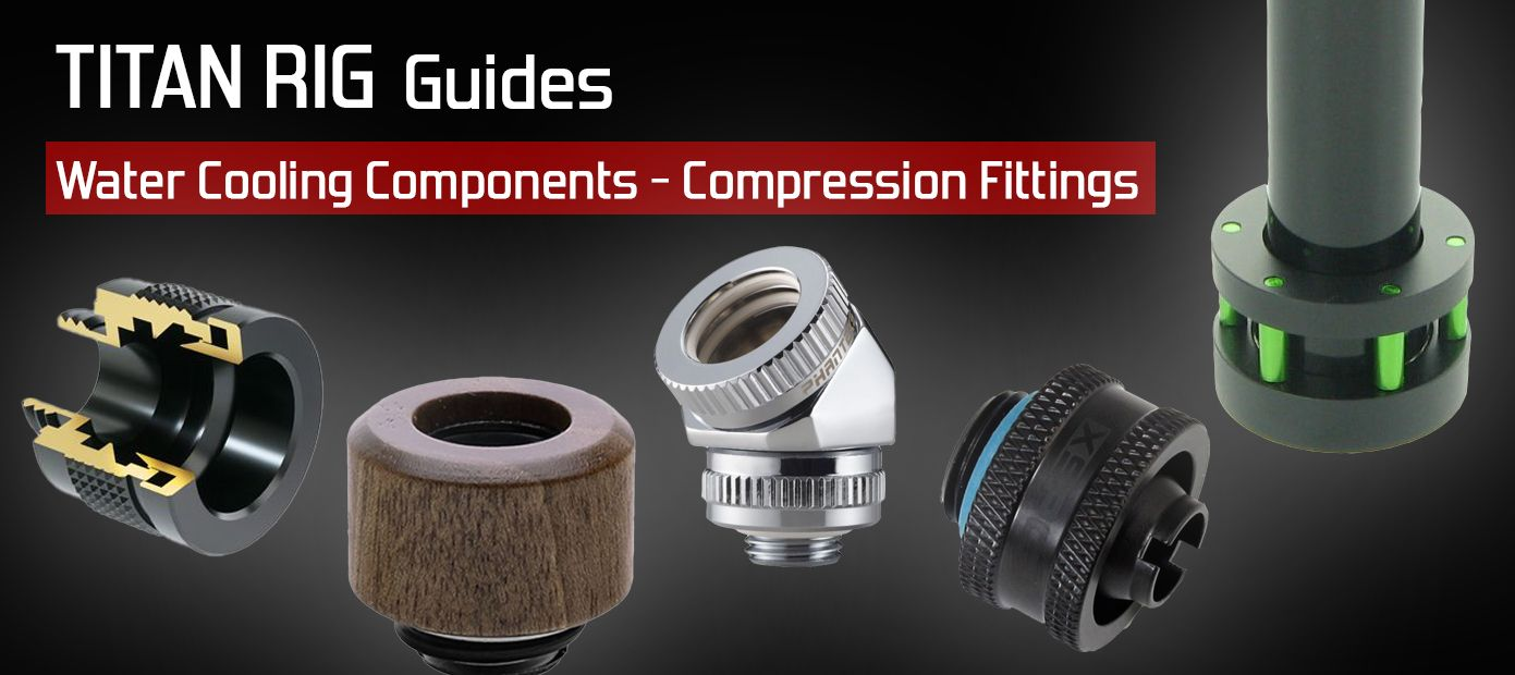 PC compression fittings for both soft tube and rigid tubing