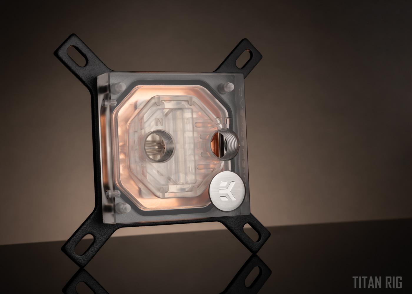 EKWB copper CPU waterblock for custom pc water cooling