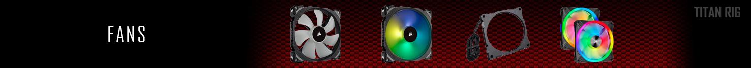 PC Case Fans, 120mm Fans, 140mm Fans, Fan Hubs, Fan Accessories