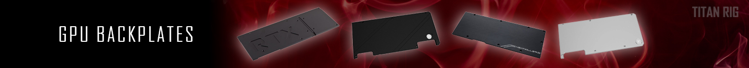 GPU Backplates, Back plates, Graphics card, GPU Water Block
