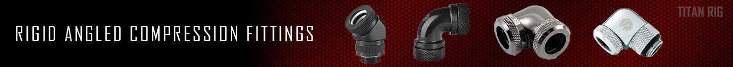 Rigid Angled Compression Fittings, PC Cooling Fittings, Rigid Tubing Fitting